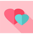 Two hearts love sign vector