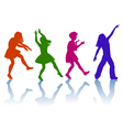 Silhouettes of little girls vector