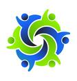 Social friends 6 logo design vector