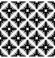 Design seamless monochrome geometric cross pattern vector