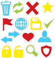 Internet icons trash bin vector