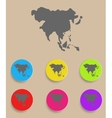 Asia map - icon isolated vector