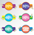 Sale coupon badge vector