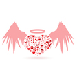 The angel valentines day love icon vector