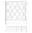 Fence made of wire mesh 01 vector