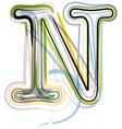 Organic font letter n vector