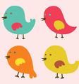 Set of lovely birds vector