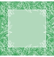 Background frame of flowers and leaves vector