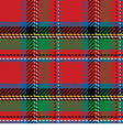 Seamless pattern scottish tartan royal stewart vector