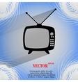 Retro tv flat modern web button on a flat vector