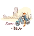 Discover italy poster vector