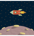 Papercraft rocket and planet vector