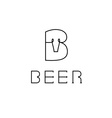 Beer monogram vector