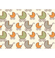 Hand drawn baby carriage pattern vector
