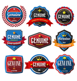 Genuineretro vintage badges and labels flat design vector