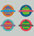 Set of colorful badge labels vector