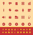 Music color icons on yellow background vector