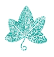 Tribal tattoo ivy leaf vector