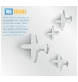 Abstract background air travel web vector