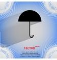 Umbrella flat modern web button on a flat vector