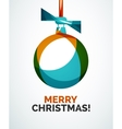Merry christmas card - abstract ball bauble vector