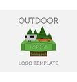Adventure tourism travel logo vintage labels vector