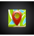 Mobile app icon - navigation map and tag symbol vector