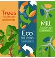 Set of flat design eco concepts vector