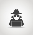Anonymous computer icon vector