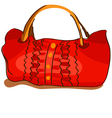 Red bag vector