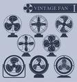Vintage fan i vector