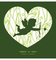 Abstract swirls texture shooting cupid silhouette vector