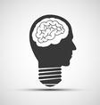 Icons bulb of a human head vector