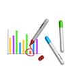 Marker drawing diagram vector