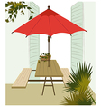 Cafe table background vector