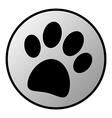 Paw button vector