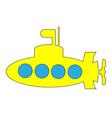 Yellow submarine icon vector