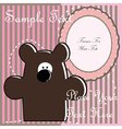 Baby postcard with bear vector