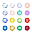 Set gemstones vector