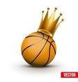 Basketball ball with royal crown of princess vector