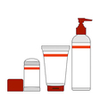 Jars and bottles of cosmetics vector
