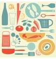 A stylish colorful kitchen collection vector