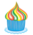 Colorful cupcake vector