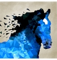 Abstract horse of geometric shape symbol vector