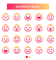 Set of icon emotions face vector