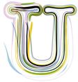 Organic font letter u vector