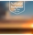 Natural background blur vector