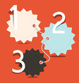 Three steps infographics layout - empty tags vector