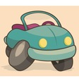 Retro cartoon car vector