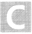Freehand typography letter c vector
